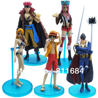 One Piece Luffy Nami Japanese Anime Action Figure Toys Gift Set of 5pcs RARE