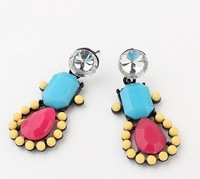B171  New 2014 fashion cartoon candy -colored earrings women earring free shipping