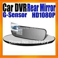"Rearview Mirror Car DVR Recorder 2.7""Display Camcorder Full HD 1080P Black Box Video Recorder Super Slim Design G-Sensor"
