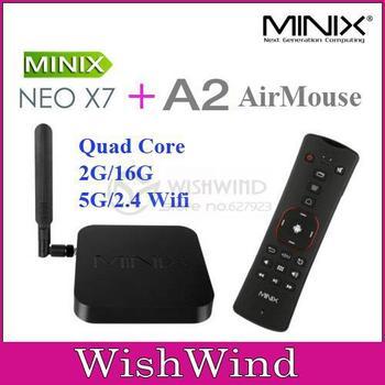 MINIX NEO X7 Rockchip RK3188 Quad Core android tv box android 4.2 media player XBMC Smart tv box 2G/16G MINIX NEO A2 Air mouse