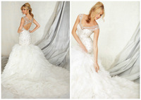 real pictures  Wedding Dresses sexy back stones  Bridal Gown