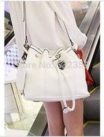 NB042 - Drawstring Bucket Bag Buckle Messenger Bag Vintage Small Bag Fashion Women's Handbag Bag
