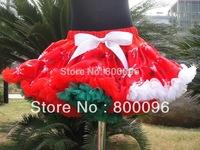 plus size tutu skirt red and white bow for baby girls tutus wholesale pettiskirt petti tutu PETS-121