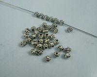 Cheap Sale 500 Pcs Tibetan Silver Alloy  Lantern Shaped Spacers Beads 4mm Jewelry DIY A00129