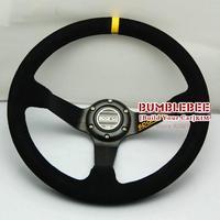 HOT !14 inches Sparco Suede Steering Wheel, racing car steering wheel Aluminum alloy, EK1698