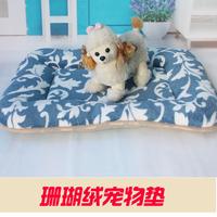 Coral fleece rectangle mat kennel8 dog cages mat dog the mat teddy vip supplies