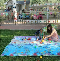 1.8m*2m Outdoor picnic rug moisture-proof pad thickening waterproof double tent more than beach mat
