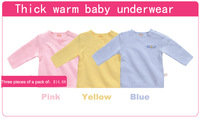 Autumn and winter baby thermal underwear baby long johns top 100% child cotton sleepwear 100% cotton