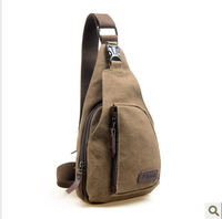 New arrival 2013 canvas chest pack canvas messenger bag casual canvas small bags messenger bag