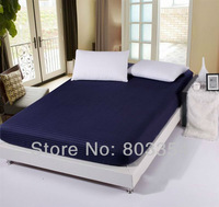 Dark Blue King Size Fitted Sheet,Twin Full Queen King Fitted Sheet,Fitted Sheet for Queen Size Beds