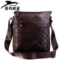 Xilivsha galeoid casual man bag messenger bag genuine leather bag first layer of cowhide male shoulder bag