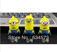 1 PCS Latest flash cartoon toys Minions flash drive 32GB 64GB8GBUSB2.0 memory stick, USB flash disk Free Shipping