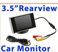 3.5 inch HD Car monitor Car Color TFT LCD Monitor Rearview DVD w/ PAL/NTSC free shipping Wholesale