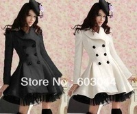 Fashion new 2013 Slim Casual Women's Wool cashmere Coats autumn and winter double breasted trench coat overcoat