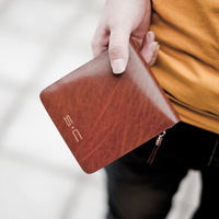 S . tailorable c cowhide male short design genuine leather zipper wallet style ly0004-1