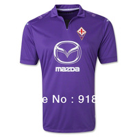 new 13/14 Fiorentina home purple soccer football jerseys, top thai quality Fiorentina soccer uniforms embroidery logo free ship