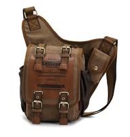 KAUKKO brand irregular style new 2013 vintage casual canvas bag men messenger bag man cross body shoulder bags women 3021