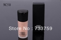 1PCS/LOT NC50 FREE SHIPPING spf10 5colors liquid foundation Breathable oil-free Natural color mineralize satinfinish spf15 30ml