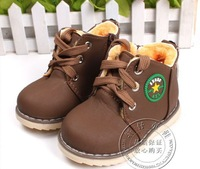 Children Shoes Kids Leather Waterproof Child Snow Boots Baby Soft Outsole Toddler Free Shipping  Warm