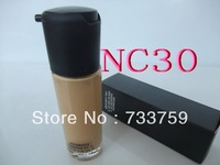 1pcs/lot brand MC makeup MATCHMASTR SPF 15 face Foundation Liquid 35ml face primer concealer NC30, free shipping