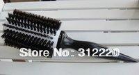 18 Row  ceramic hair brush professional hair brush/100%Nature Boar Bristle Hair Brushes,Size:25*dia 7.0cm+Free Shipping