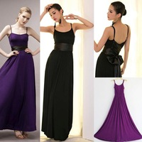 New Evening Dress 2013 Hot Sale Summer Women Party Dresses Empire Waist Ankle-Length Strap Sleeveless Modal Black Purple A0025