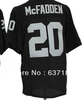2013 Men New Cheap Oakland RB #20 Darren McFadden Black/Away White/Split American Team Rugby Football Sport Jersey,Stitched Logo