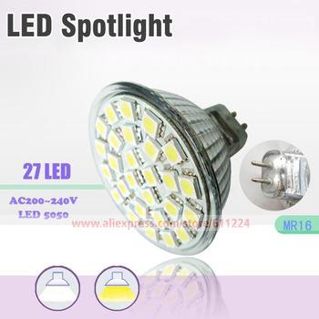 4PCS GU10/MR16/E27 3W 27leds  5050SMD Spot Light Bulb Hight Power Led Lamp Warm White/ White Energy Saving  LED Light
