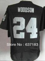 Wholesale 2013 Man Oakland FS #24 Woodson CB #25 Hayden #15 Flynn Black USA Team Rugby Football Elite Sports Jersey,SEWING Name