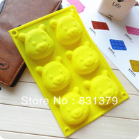 Free shipping  Bear shape Muffin Sweet Candy Jelly fondant Cake chocolate Mold Silicone tool Baking Pan
