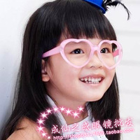 Child peach heart glasses lens male female child baby frames love candy color glasses
