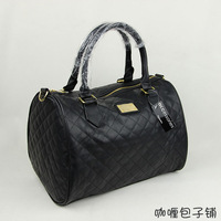 B040 fashion plaid shoulder bag , women's handbag bag , 2013 classic style, drum shaped totes