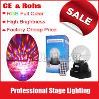 free shipping led crystal magic ball light ,led rotating light.Support MP3,USB,TF card