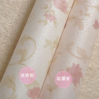 Rustic small flowers wallpaper eco-friendly non-woven wallpaper pink background wallpaper