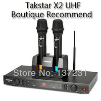 New Boutique Recommend Takstar X2 black UHF Wireless Microphone System Professional Karaoke Engineering Dedicated Microphone
