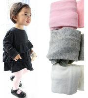 Free Shipping 2014 Autumn&Winter 100% Cotton Newborn Baby Warm Pantyhose, 1 Lot=5 Pcs,  Gray, Pink, White, 3M-3 Years Child
