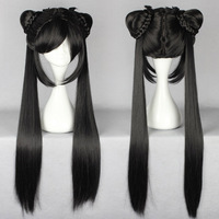 Free shipping 80cm Long Straight Black ancient costume girl's Zhao Ling'er Cosplay Wig