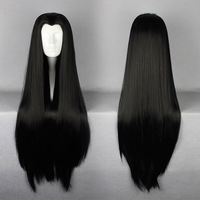 90cm Long ONE PIECE-Boa Hankokku Costume male beauty tip  Black Cosplay Costume Wig