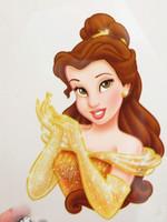 Cartoon hot map heat transfer printing cartoon hot paste fabric flatheads princess  n72