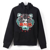 2013 Winter High Street Neon Tiger Head Animal Embroidery Hoodies & Sweatshirts Women Fleece Pullover Long Sleeve 3d Coat