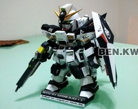 SD Gundam RX-93-2black paper model educational toys hand to do home decor