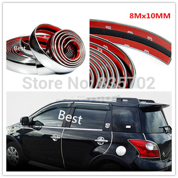 5Mx10MM CAR TRUCK EXTERIOR INTERIOR ACCESSORIES DECORATION CHROME MOULDING TRIM STRIP LINE ADHESIVE WHEEL BODY KIT BUMPER LID