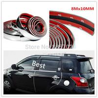 8Mx10MM CAR TRUCK EXTERIOR INTERIOR ACCESSORIES DECORATION CHROME MOULDING TRIM STRIP LINE ADHESIVE WHEEL BODY KIT BUMPER LID