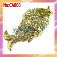 Free shipping Wholesale 1GB to 64GB Jewelry Fish USB Flash Memory drive with 1 year warranty  #CA006