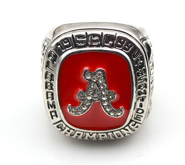 "1999 Alabama Crimson Tide Football ""SEC CHAMPIONSHIP"" Authentic Starting Player's NCAA Ring Size 10(China (Mainland))"