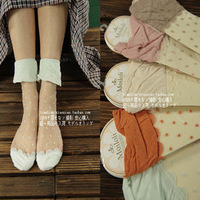 Wholesale A129 socks polka dot lace decoration sexy stockings sock pile of pile of socks  Free shipping