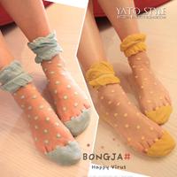Wholesale A091 socks ultra-thin stockings dot socks lace decoration sock pile of pile of socks  Free shipping