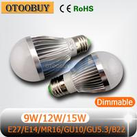 E27/E14/MR16/GU10/GU5.3/B22 E27 LED Bulb Light Lamp Dimmable 3W - 15W 1PCS/LOT