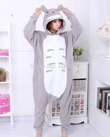 Flannel totoro cartoon one piece sleepwear