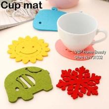 Wholesale - 50pcs/lot Colored Cup Mat Placement Cotton Bulk Felt Coaster Crochet Kitchen accessory Novelty households Gift 8501(China (Mainland))